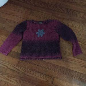 Benetton knit girls sweater